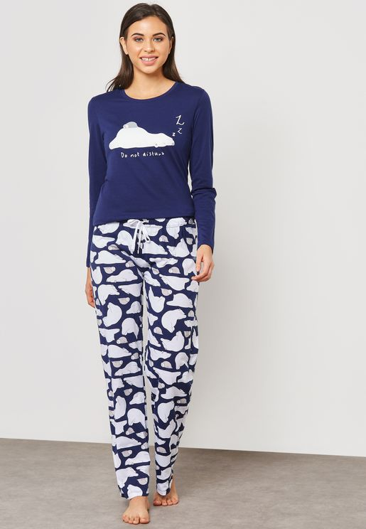Printed T-Shirt & Pyjama Set