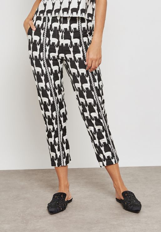 Printed Crop Pants