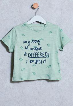 Kids Blatt T-Shirt