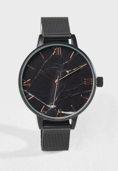 Marble Face Analogue Watch