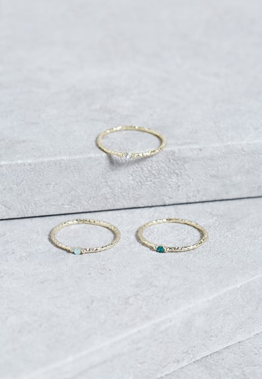 Multipack Stone Rings
