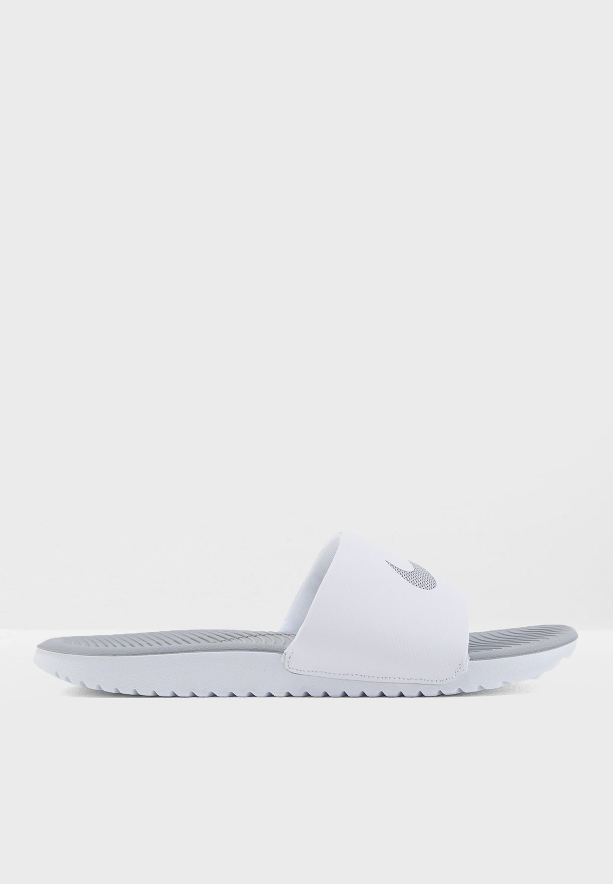 c8f46362917bf Shop Nike white Kawa Slide 834588-100 for Women in UAE - NI727SH17DWK