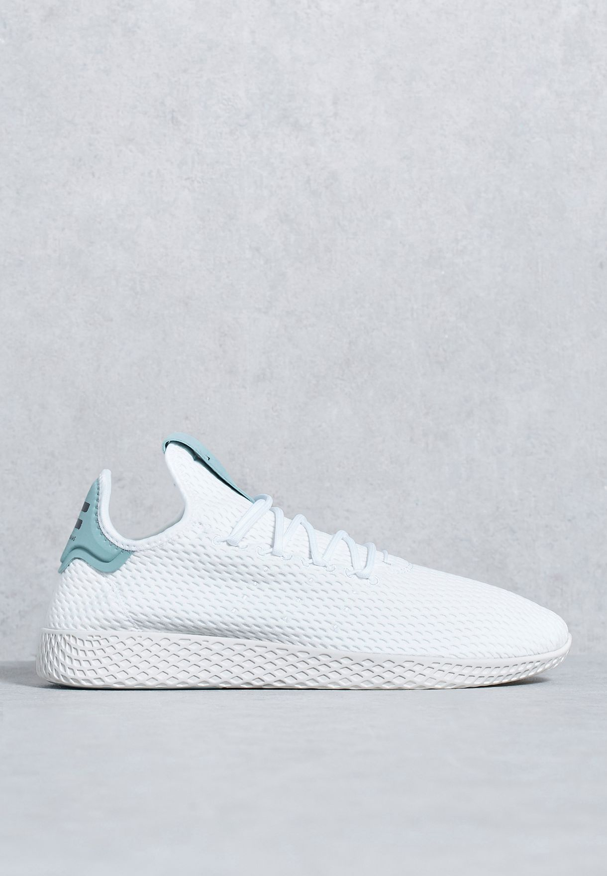cd584294c Shop adidas Originals white Pharrell Tennis Hu BY8716 for Men in ...