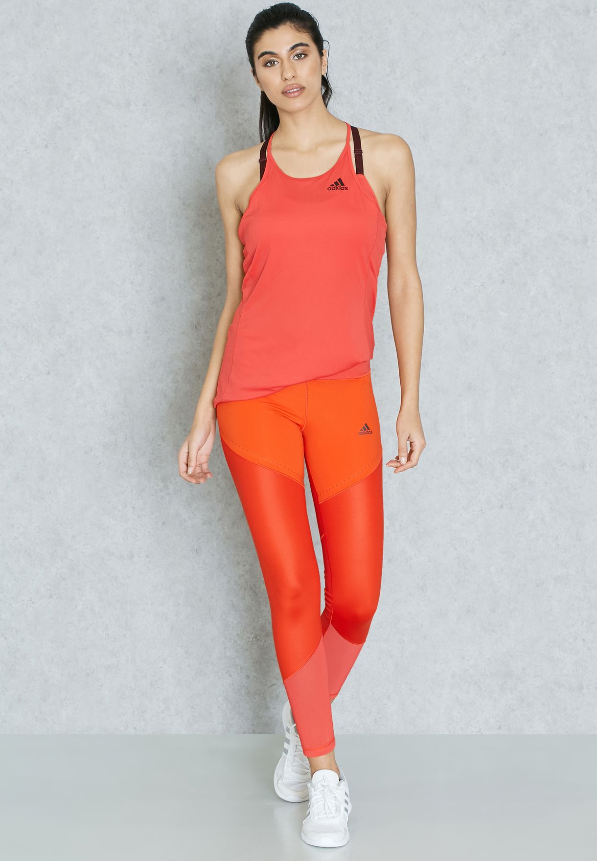 57d62d20785d3 Shop adidas orange Wow Drop Tights B47006 for Women in UAE ...