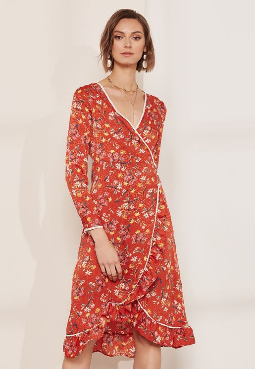 Covent Garden Printed Wrap Dress