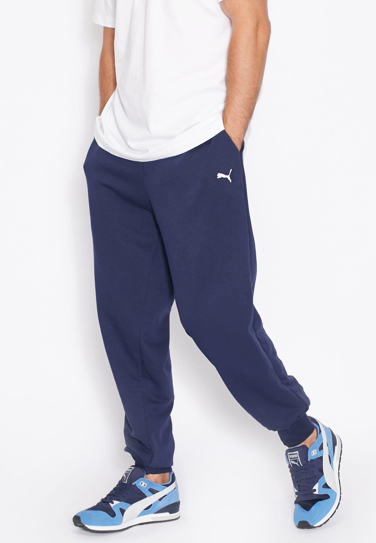 586ee5aef00e Shop PUMA navy Essential Slim Sweatpants 83838006 for Men in Qatar -  PU020AT17ABU
