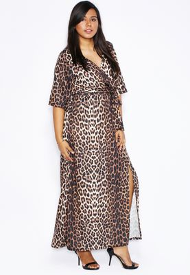 Ella Plus Animal Print Kimono Dress
