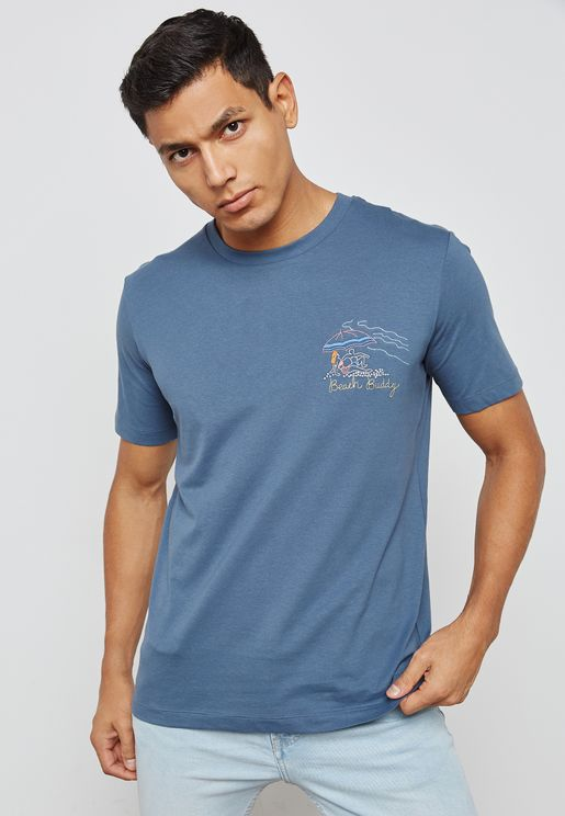 Decorative  Embroidered T-Shirt