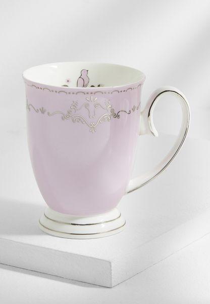 فنجان شاي بطبعة طائر
