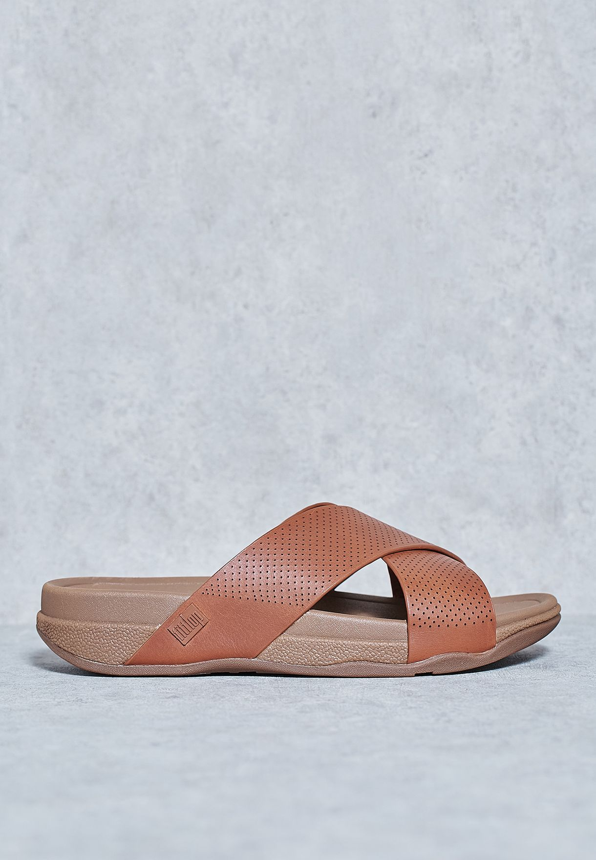 2e4bc5364f00 Shop Fitflop browns Surfer Cross Slide Sandals C07-277 for Men in Saudi -  FI008SH17FZQ