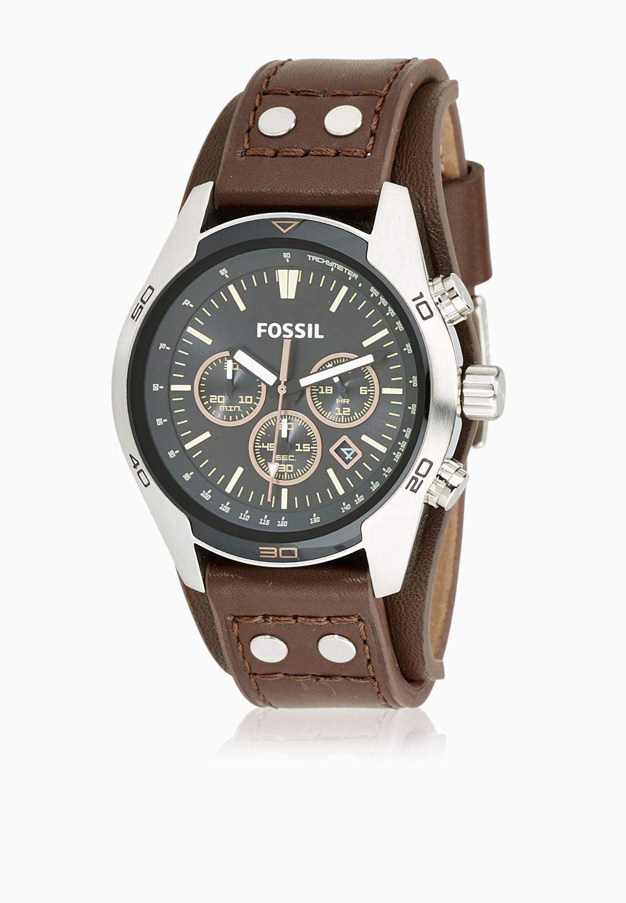 53842b0000495 تسوق ساعة جلد اصلي ماركة فوسيل لون browns CH2891 في السعودية ...