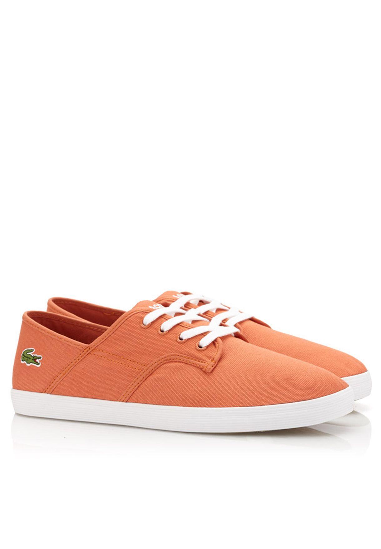 460c8fb5b Shop Lacoste orange Andover Eos Sneakers 28SPM0111-DA6 for Men in ...