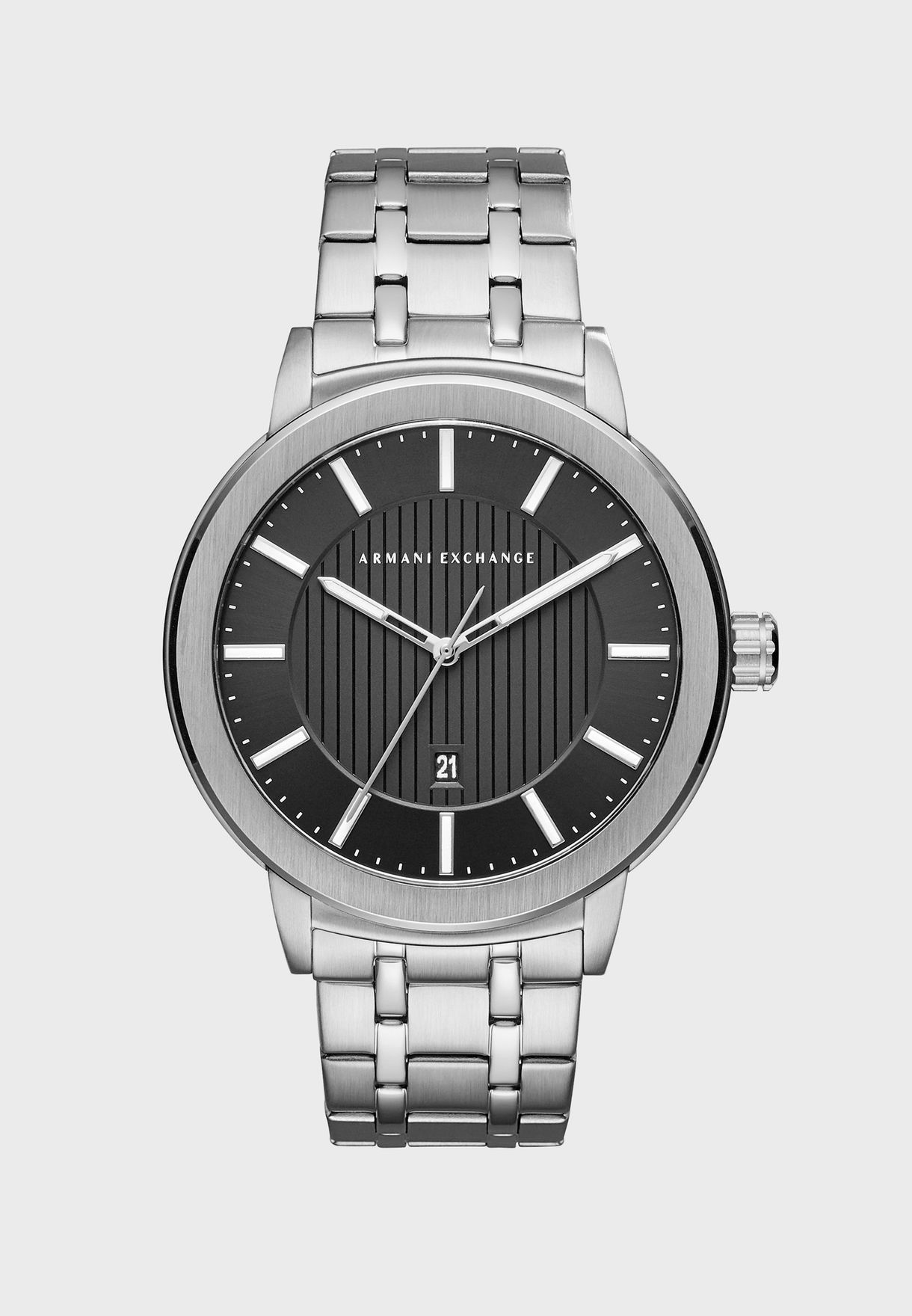 0d19244842 Shop Armani Exchange grey AX1455 Exchange Stainless Steel Watch ...