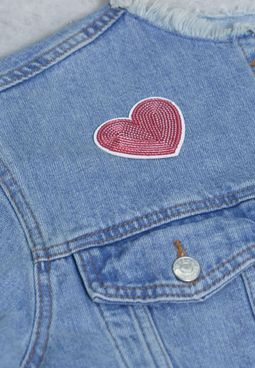Heart Sequin Sticker Patch