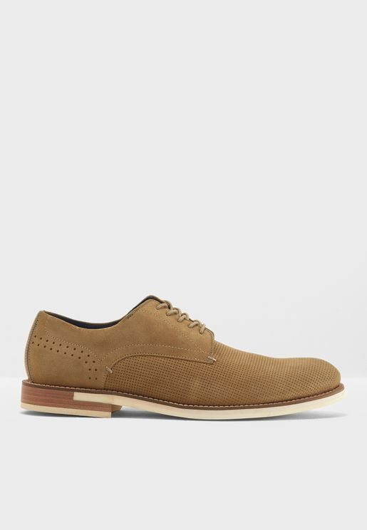 Sand Suede Casual Laceups