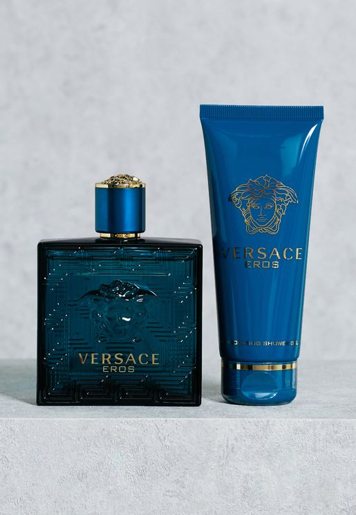 Versace Eros 100Ml Edt & 100Ml Sg