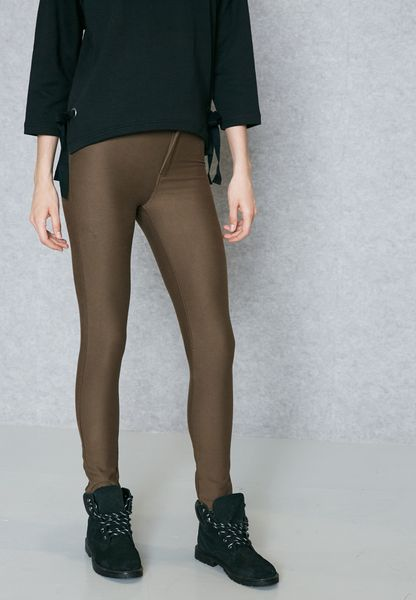 new products 4cc66 9decc Shop Forever 21 green High Waist Skinny Pants 209245 for Women in UAE  delicate