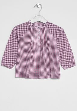 Infant Check Print Shirt