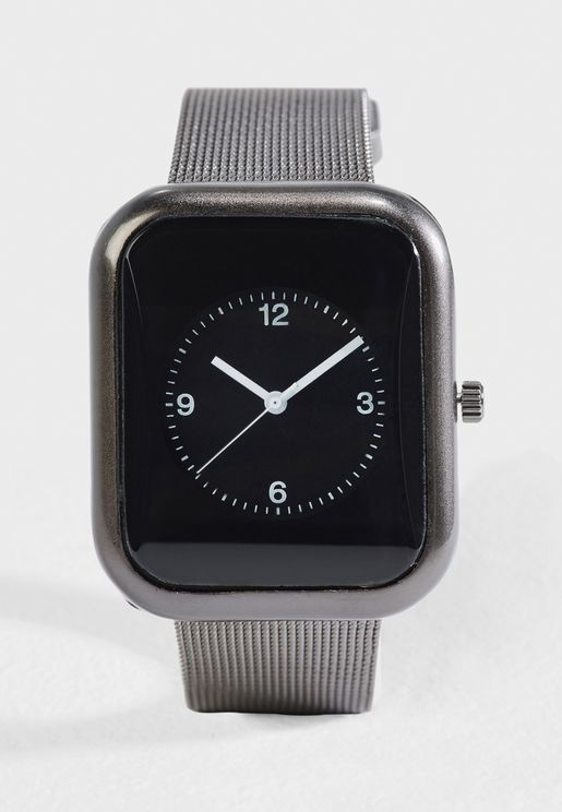 Analog Mesh Strap Watch