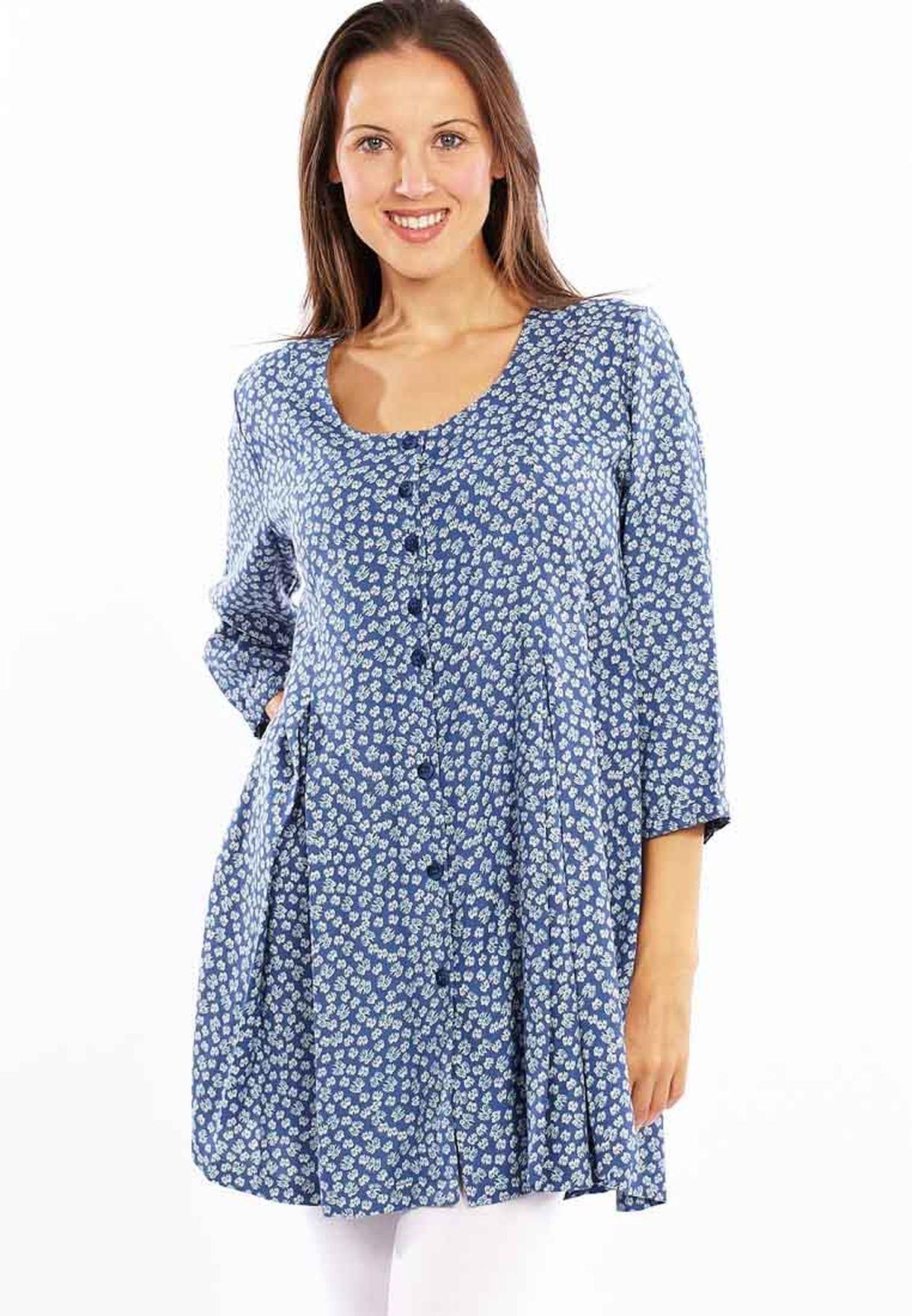 35457a7339b Shop Adini blue Tunic Casual Dress for Women in Kuwait - AD103AT17TKC