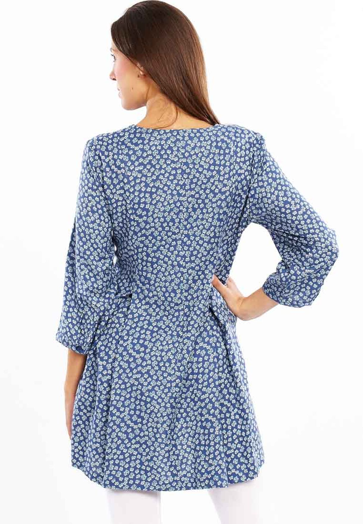 70b5dfa7823 Shop Adini blue Tunic Casual Dress for Women in Oman - AD103AT17TKC