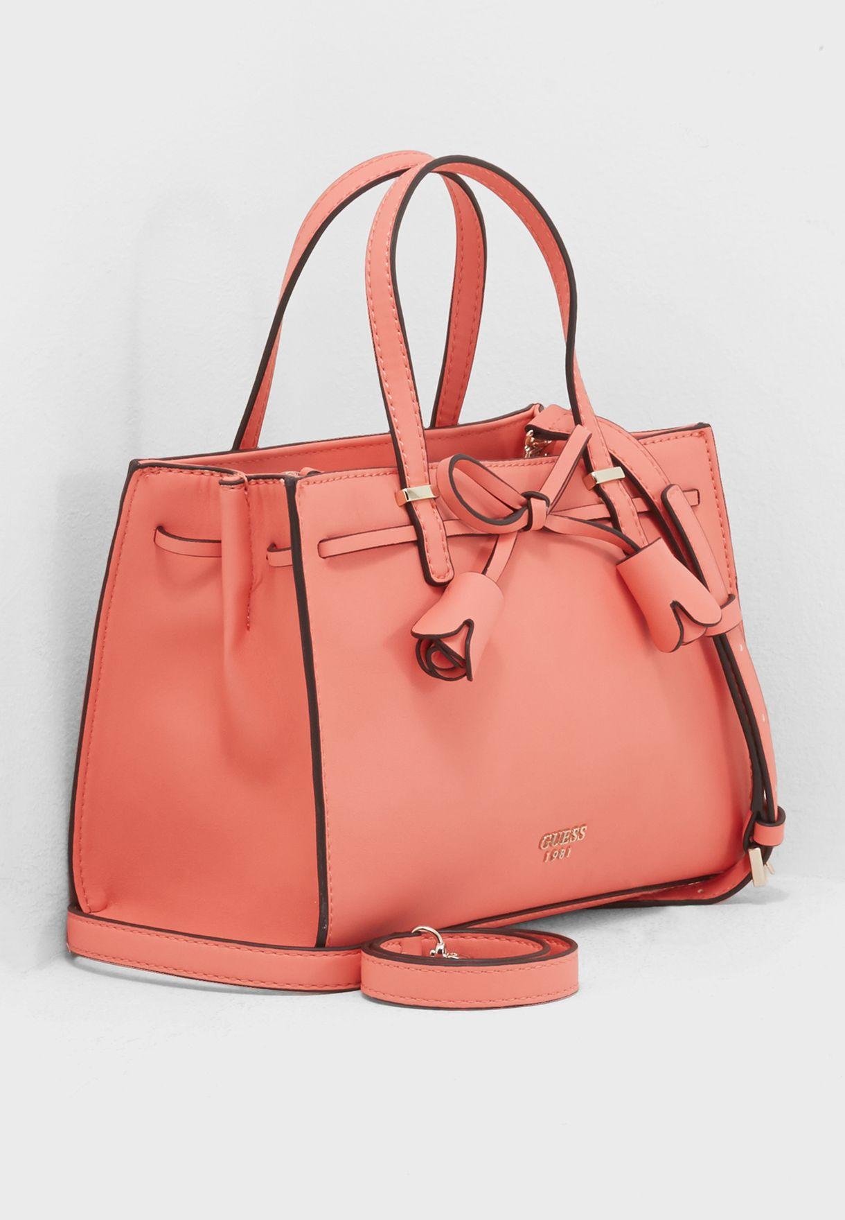 Shop Guess pink Leila Girlfriend Satchel VG696405COR for Women in Saudi -  GU094AC17OKO de048b7981d3b