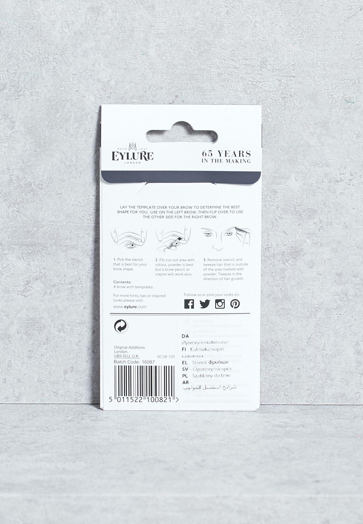 Shop Eylure Black Brow Stencils 5011522100821 For Women In Oman