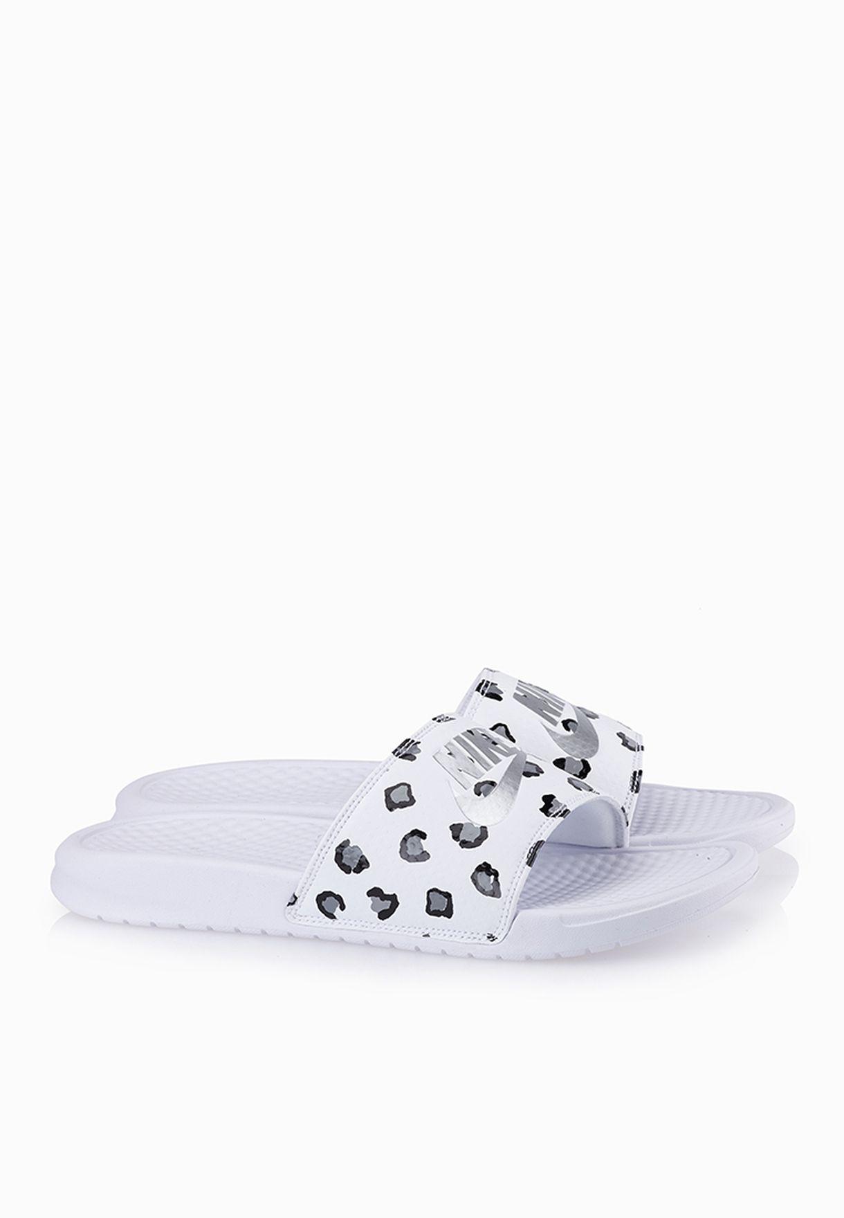 8e583a9599d5 Shop Nike white Benassi Jdi Print Slides 618919-102 for Women in UAE ...