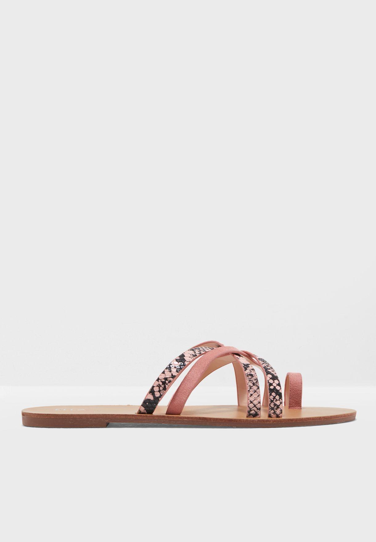 77f0c701f4b609 Shop Ella pink Alyson Sandal A533-302 for Women in Oman - CO949SH17WJE