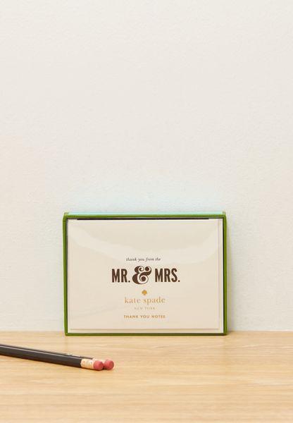 Mr. & Mrs Bridal Note Card Pack