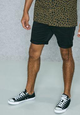 Skinny Fit Chino Shorts