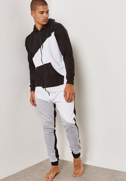 Colourblock Hoodied Onesie