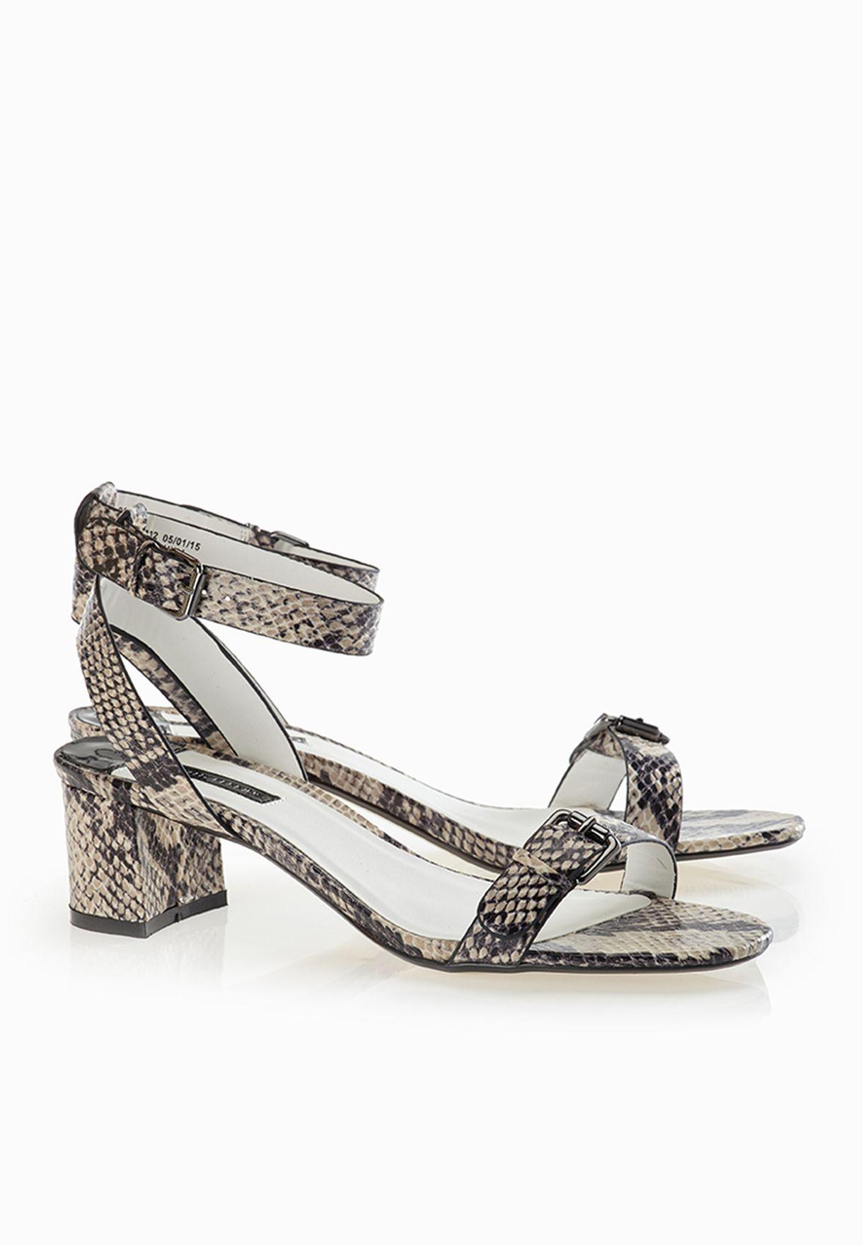 87270983b Shop Dorothy Perkins snakeskin Snake Print Block Heel Sandals 22313332 for  Women in Saudi - DO860SH17PHE