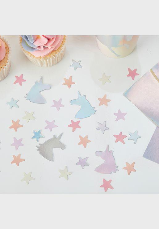 Unicorn With Stars Confetti