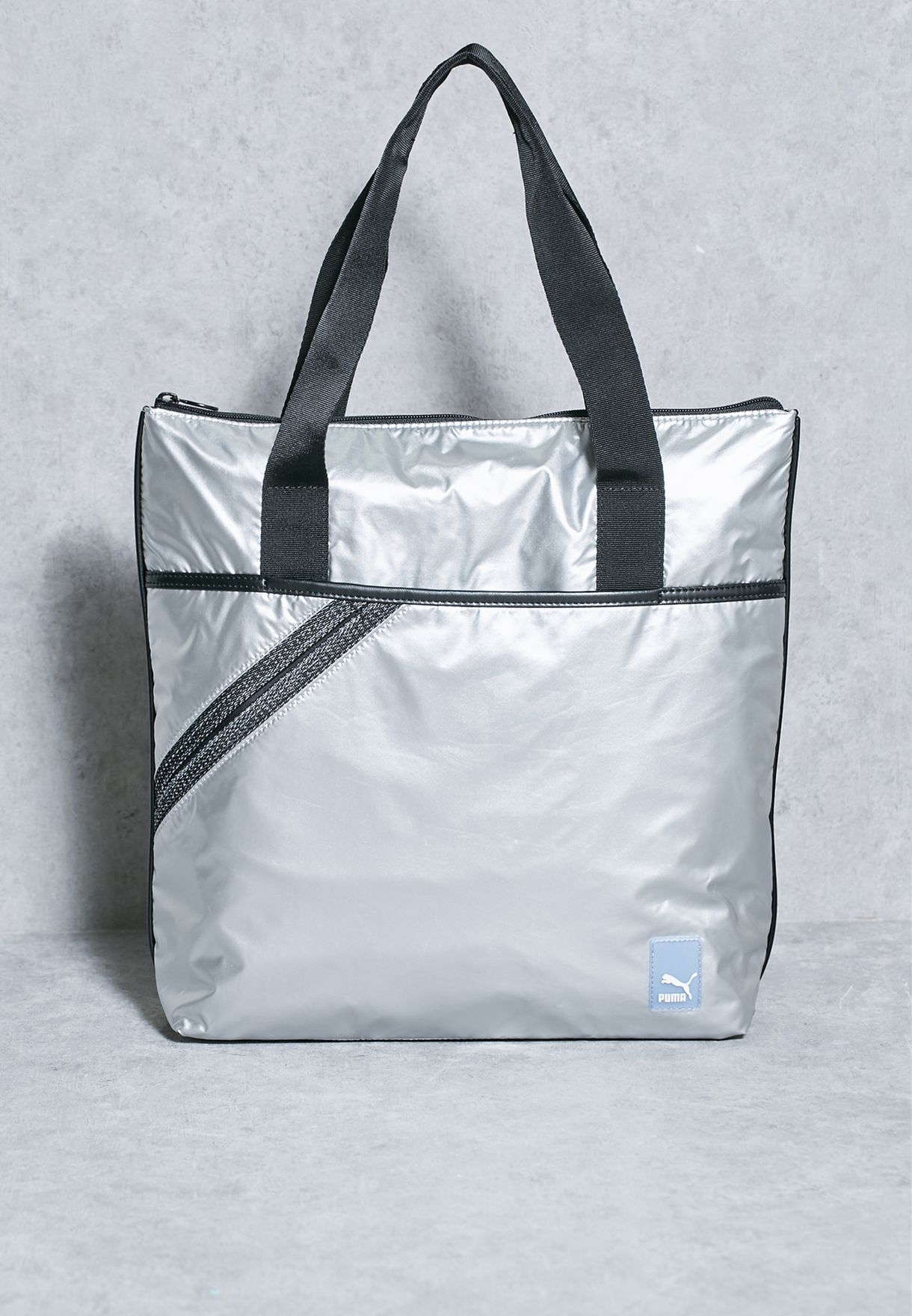 puma tote bag silver