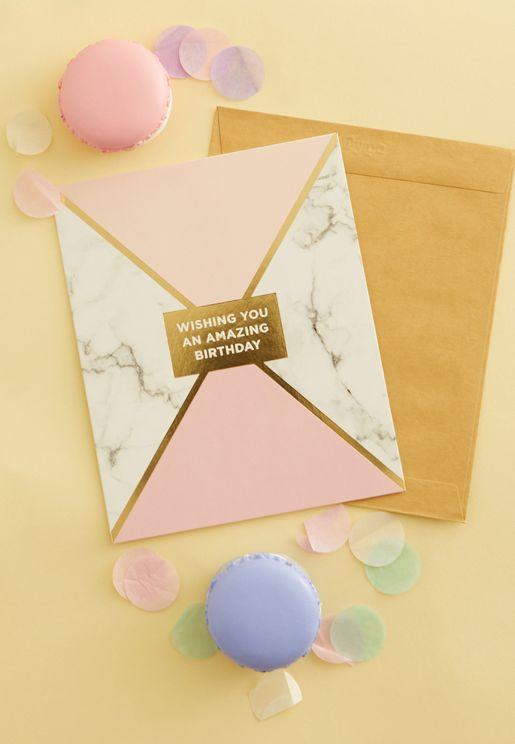 Geomatric Birthday Card