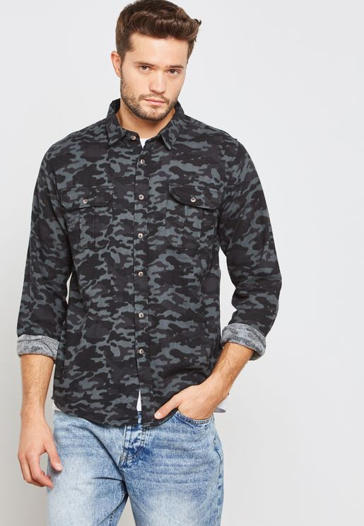 Camo Two Pocket Shirt