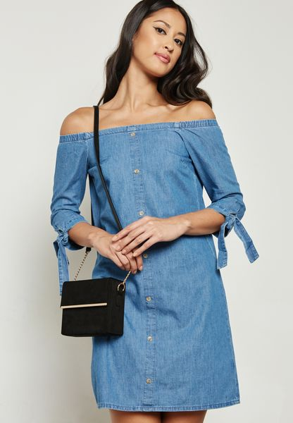 Midwash Bardot Denim Dress