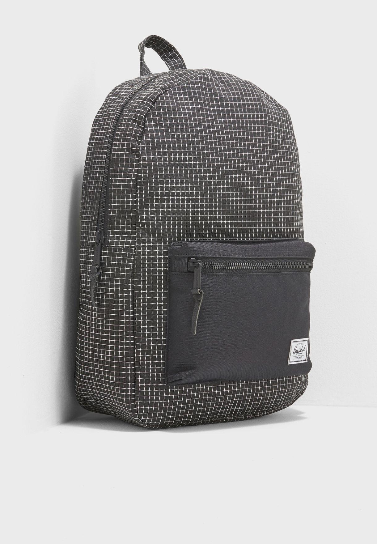 034c271374 Shop Herschel black Settlement Backpack 10005-01579-OS for Men in ...