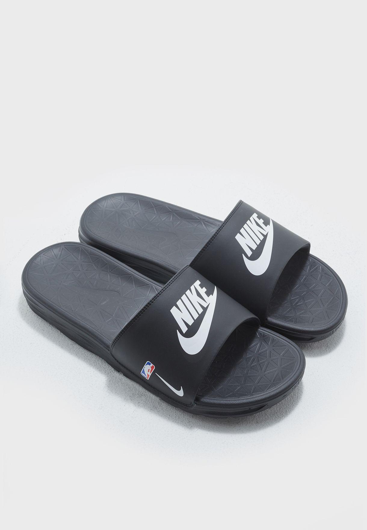 2c4a7b3be7359f Shop Nike black Benassi Solarsoft NBA 917551-004 for Men in UAE ...