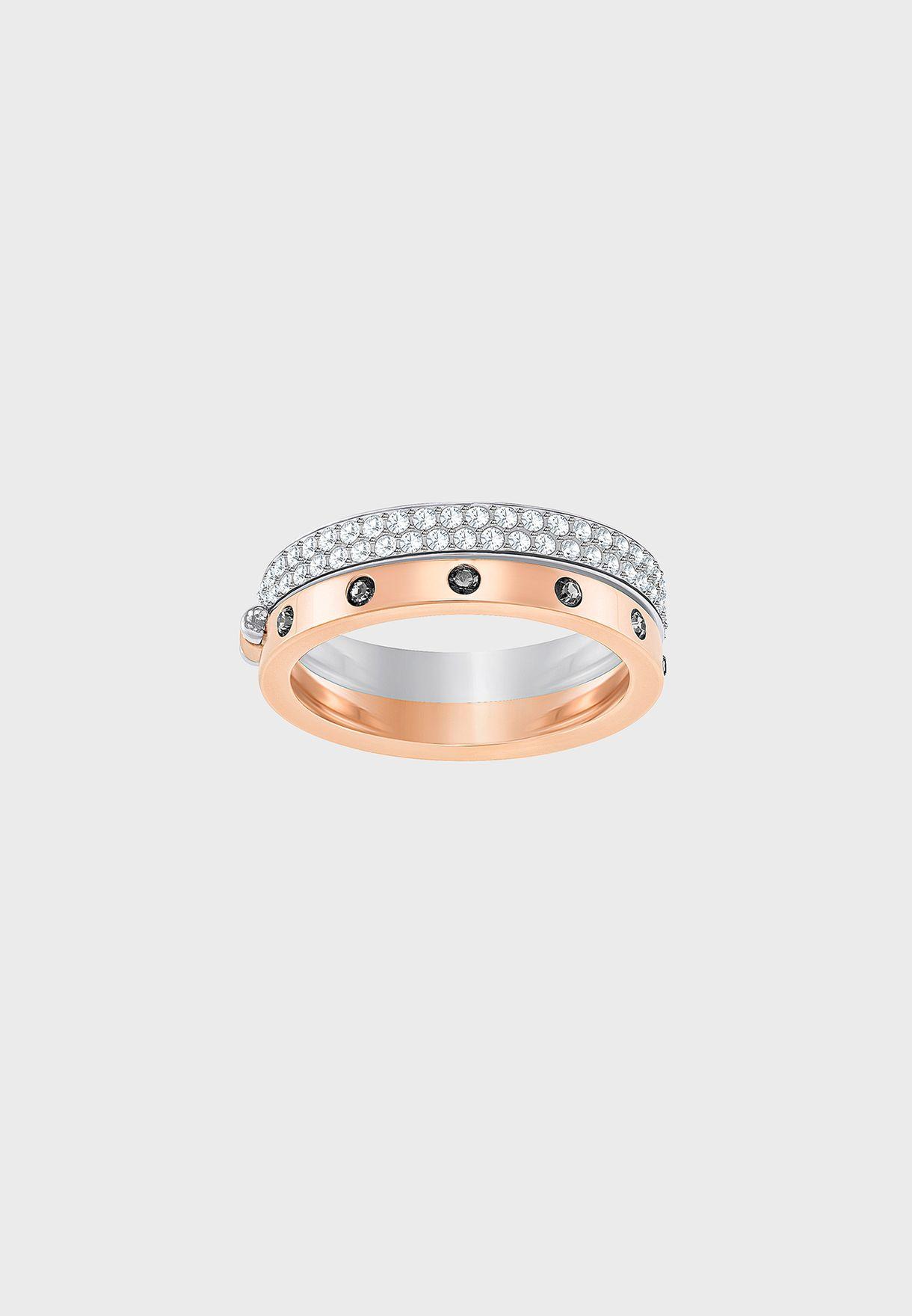 5d52a4f9389a Shop Swarovski multicolor Hint Rock Chic Ring 5350141 for Women in Qatar -  SW493AC17KKS