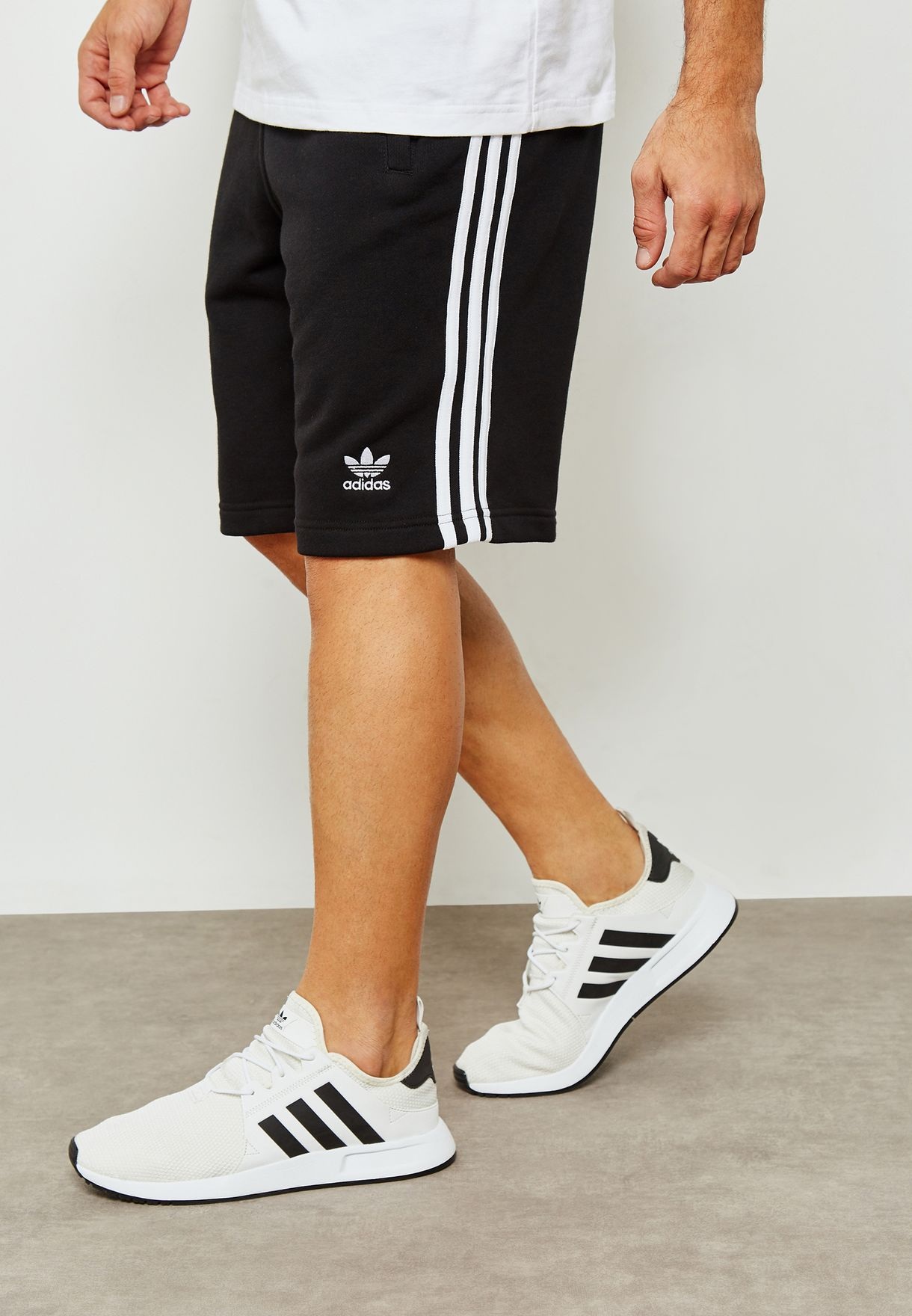 73602c21c Shop adidas Originals black adicolor 3 Stripe Shorts DH5798 for Men ...
