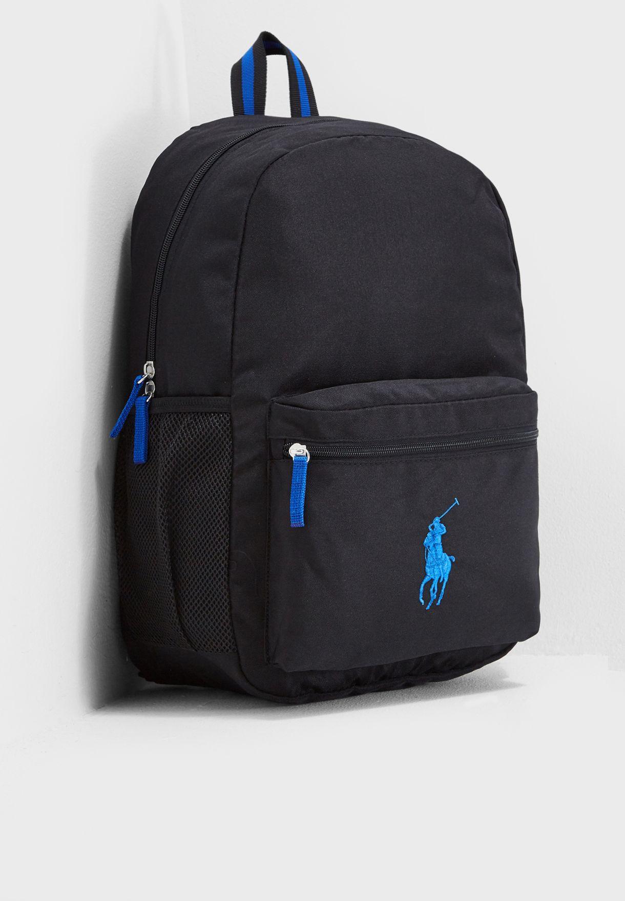 63fa18a2ba72 Shop Polo Ralph Lauren black Kids Large Academy Backpack RA100124 ...