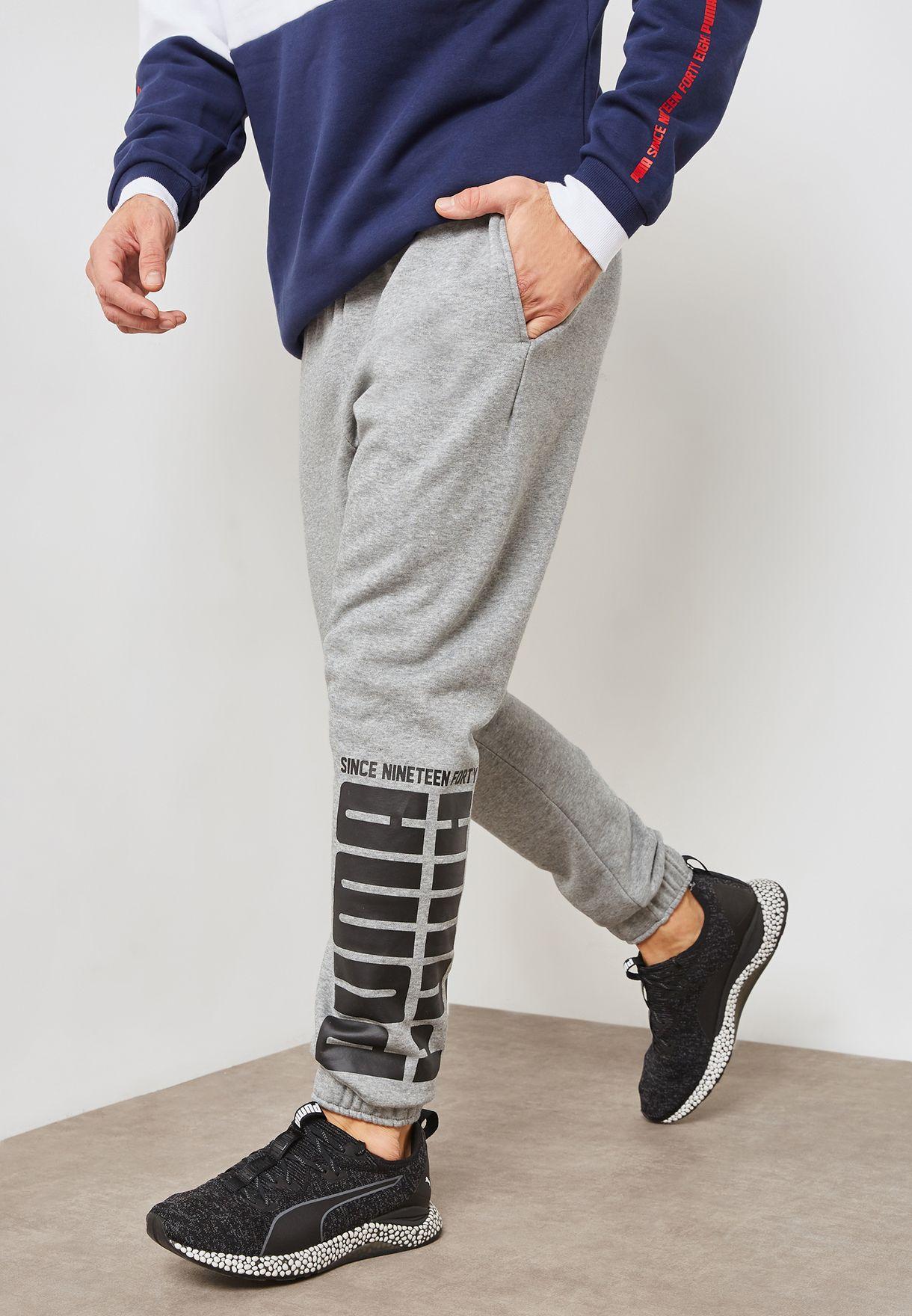 7bc72e71aca1 Shop PUMA grey Rebel Bold Sweatpants 85240903 for Men in UAE ...
