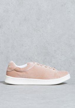 Velvet Low Top Sneaker