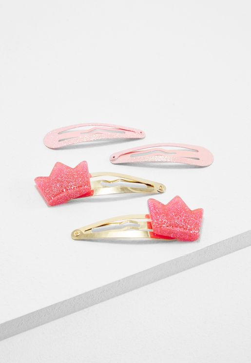 Kids 4 Pack Hair Clips
