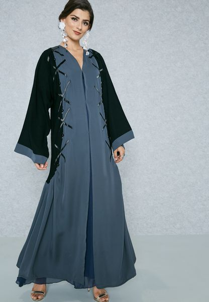 Ruched Side Kaddana Detail Abaya