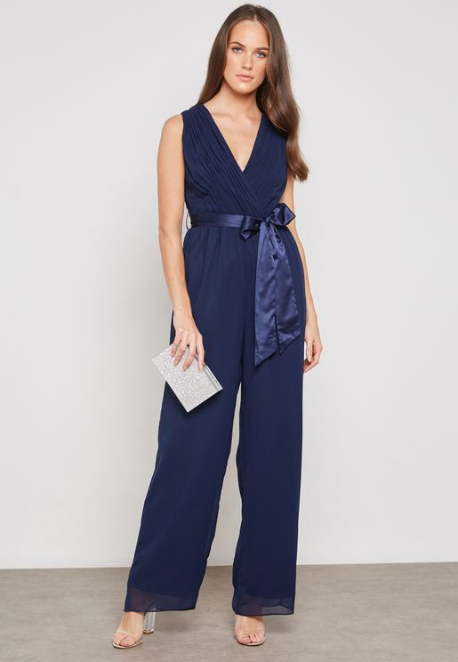 Surplice Waist Detail Jumpsuit