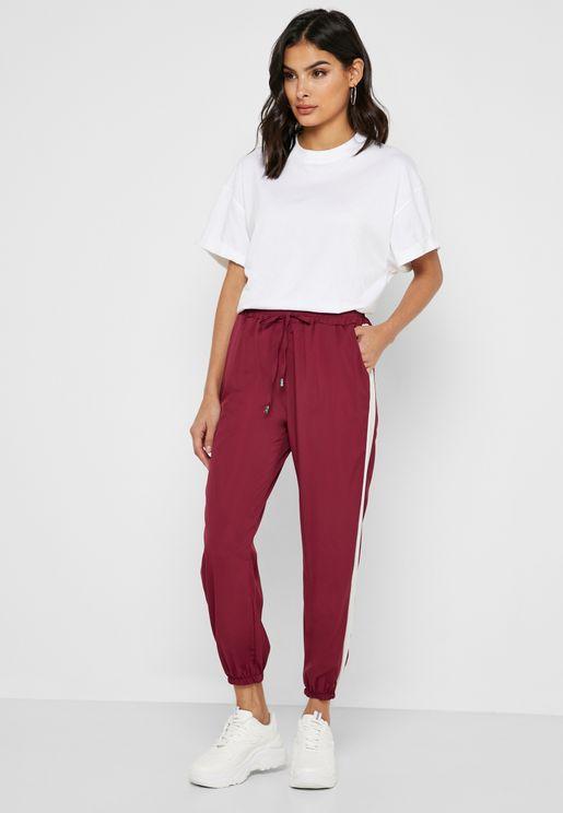 Contrast Side Paneled Pants