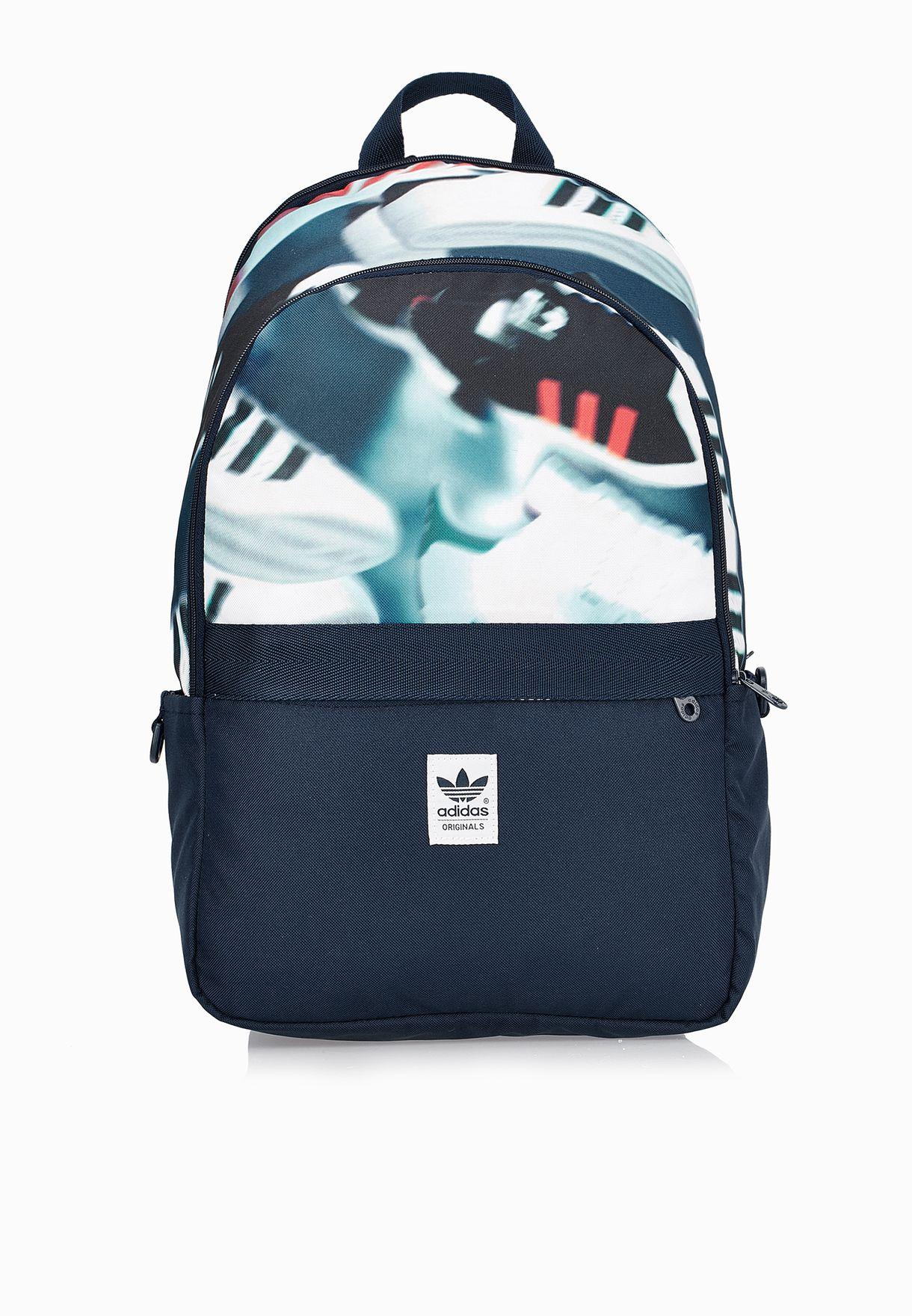 ef2c664132b Shop adidas Originals blue Shoe Chaos Backpack AX5789 for Men in ...